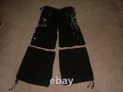TRIPP NYC Skull Chains Bondage Rave Punk Skate Goth Pants Detachable Size M