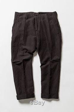 The Viridi-anne Black Cotton-Linen Cropped Pants Sz 4