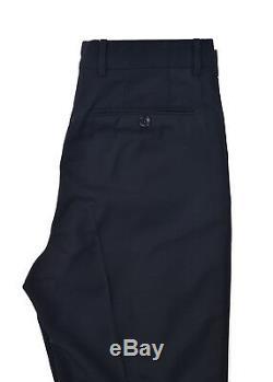 Tom Ford Men Black Wool Pleat Front Straight Leg Trouser RTL$1350