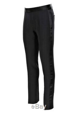 Tom Ford Pants Men's 48F Black Mohair Plain Smoking Hose spring-summer collec