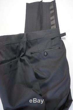 Tom Ford Tuxedo Pants Size 34 Black 100% Wool Side Tabs New