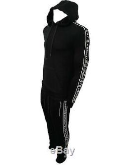 Tracksuit Set GIVENCHY PARIS Tracksuit Blouse Trousers Sports Black 3D Logo Line