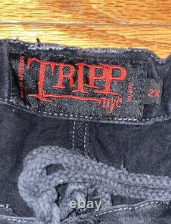 Tripp NYC Daang Goodman Men Sz XXL Vtg Punk Goth Rave Chains Rivets Studs Pants