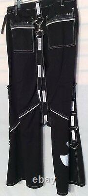 Tripp NYC SMALL Pants Black with White Stripes Gothic New