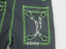Tripp Pants Adult Medium Black Green Wide Leg Zippers Goth Gothic Baggy Mens