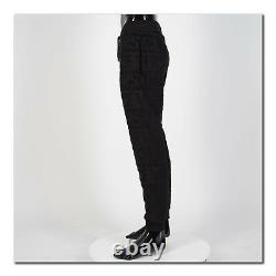 VERSACE 1250$ Textural Logo Sweatpants In Black Cotton