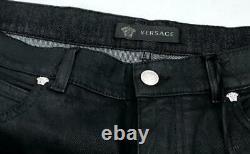 VERSACE Black Medusa Denim Jeans Trousers Pants SZ33 NEW Auth