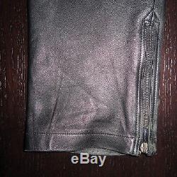 VERSACE Black Studded Leather Pants Sz 48=31 SUPER RARE
