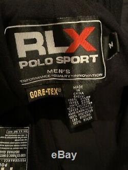 VINTAGE Ralph Lauren Polo Sport RLX Gore-Tex Lined SkI Pants Sz M BLACK