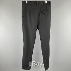 VIVIENNE WESTWOOD Size 28 x 31 Black Solid Lana Wool Casual Pants