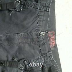 VTG 90S 2000s Tripp Cargo Pants Rave Bondage Emo Mall Goth Punk Mens L