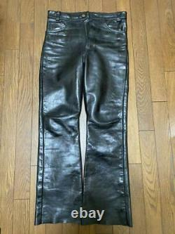 Vanson Authentic Leather Pants Black 32 Used from Japan