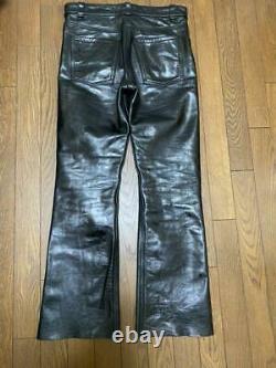 Vanson Leather Pants Size 32 Black Authentic Japan