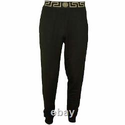 Versace Iconic Men's Luxe Gym Trousers, Black/gold
