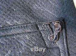 Versace Jeans Print Fleece Jogger Men's Pants Black Size X-Large