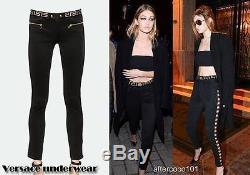 Versace Medusa black Leggings Trousers Pants As Gigi Uk8 IT40 US4 Auth dress