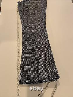 Vintage 1960s LEVIS STA-PREST Big E Bell Bottom Black & Gold Tab Blue White