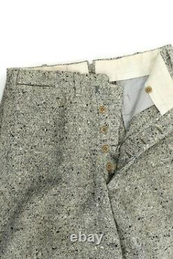 Vintage 20s Men's Black + White Fleck All Wool Button Fly Knickers Golf Pants 30