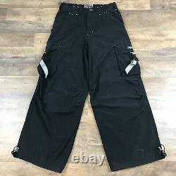 Vintage 90s Caffeine Wide Leg Skater Club Rave Pants Mens 32 X 32 Parachute