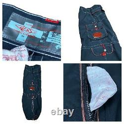 Vintage 90s MACGEAR Wide Leg Rave Cyber Goth Cargo Baggy Pants RARE 28 x 30.5