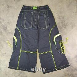 Vintage Altered Mind Black Greem kikwear JNCO macgear tripp rave neon Wide 90s