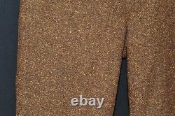 Vintage Anderson & Sheppard Of Savile Row Donegal Fleck Tweed Wool 38 W Brown