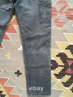 Vintage Carhartt Custom Taper Double-Knee Grunge Work Chore Pants 33x32