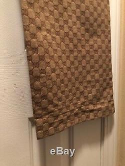 Vintage Gucci Mens 38 Monogram Gucci Logo Shorts Black Gray Rare 90s