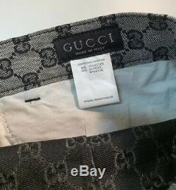 Vintage Gucci Mens GG Monogram Logo Jean Pants Black & Grey Size 42