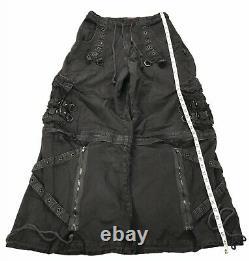 Vintage Tripp NYC Dang Goodman Rave Goth Club Cargo Pants Zip Shorts Large Mens