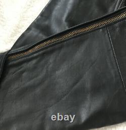 Vintage Vanson Black Leather Motorcycle Riding Pants Men's Size 36