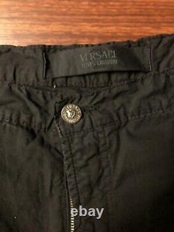 Vintage Versace Jeans Couture Pants Wide Leg Size 42 (IT 56) Black 2002-2004