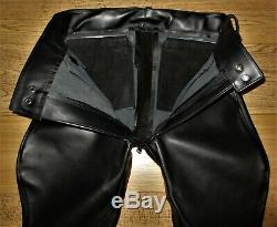 Vk79 Berlin Leather Breeches Jeans/pantalon En Cuir Uniform Langlitz Rob Bluf