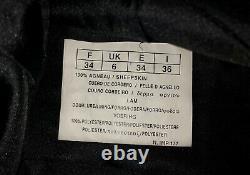 Vtg Soft Sheepskin Leather Skinny High Waist Pants Mint Condition Rare