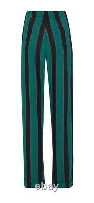 Wales Bonner Black/Emerald/Ochre Cotton-Blend Pyjama Trousers. UK 30 Waist. NWT