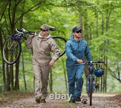Waterproof Rain Suit Jacket Trouser Pants Adjustable Hood Protector Motorcycle