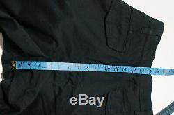 Y'S YOHJI YAMAMOTO ASPESI MEN'S BLACK CARGO TROUSERS PANTS RARE size 4 XL
