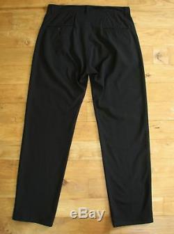 YOJHI YAMAMOTO POUR HOMME MENS L large 36 x 35 BLACK COTTON PANTS