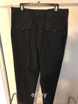 Yohji Yamamoto Costume D'Homme Cotton Trouser Pants- Sz 5 (34)-unhemmed- Luxury
