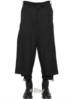 Yohji Yamamoto LAYERED WOOL GABARDINE PANTS 31inch