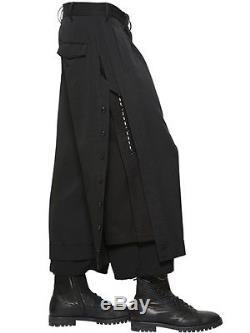 Yohji Yamamoto LAYERED WOOL GABARDINE PANTS $699 till May 30th