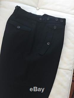 Yohji Yamamoto Men's Black Wool Suspender Trousers, size M