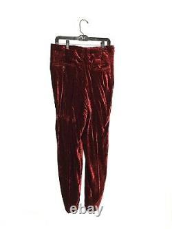 Yohji Yamamoto Pour Homme AW1999 Red Velvet Pants Size Large
