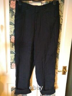 Yohji Yamamoto Pour Homme Linen Rayon Striped Trousers