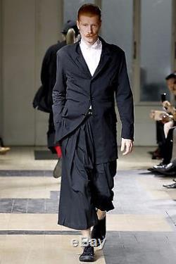 Yohji Yamamoto Pour Homme SS12 Metal Clinch Hakama Pants Runway Black Size