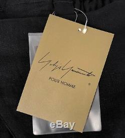 Yohji Yamamoto Pour Homme black linen hakama side wrap 2018 S/S NWTs (001-006)